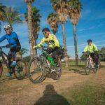 רוכבים על אופניים בפארק